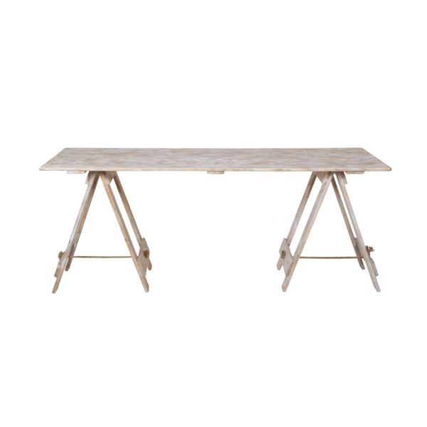 Dřevěný vintage rozkládací stůl